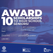 We are pleased to award 10 scholarships to high-school seniors!