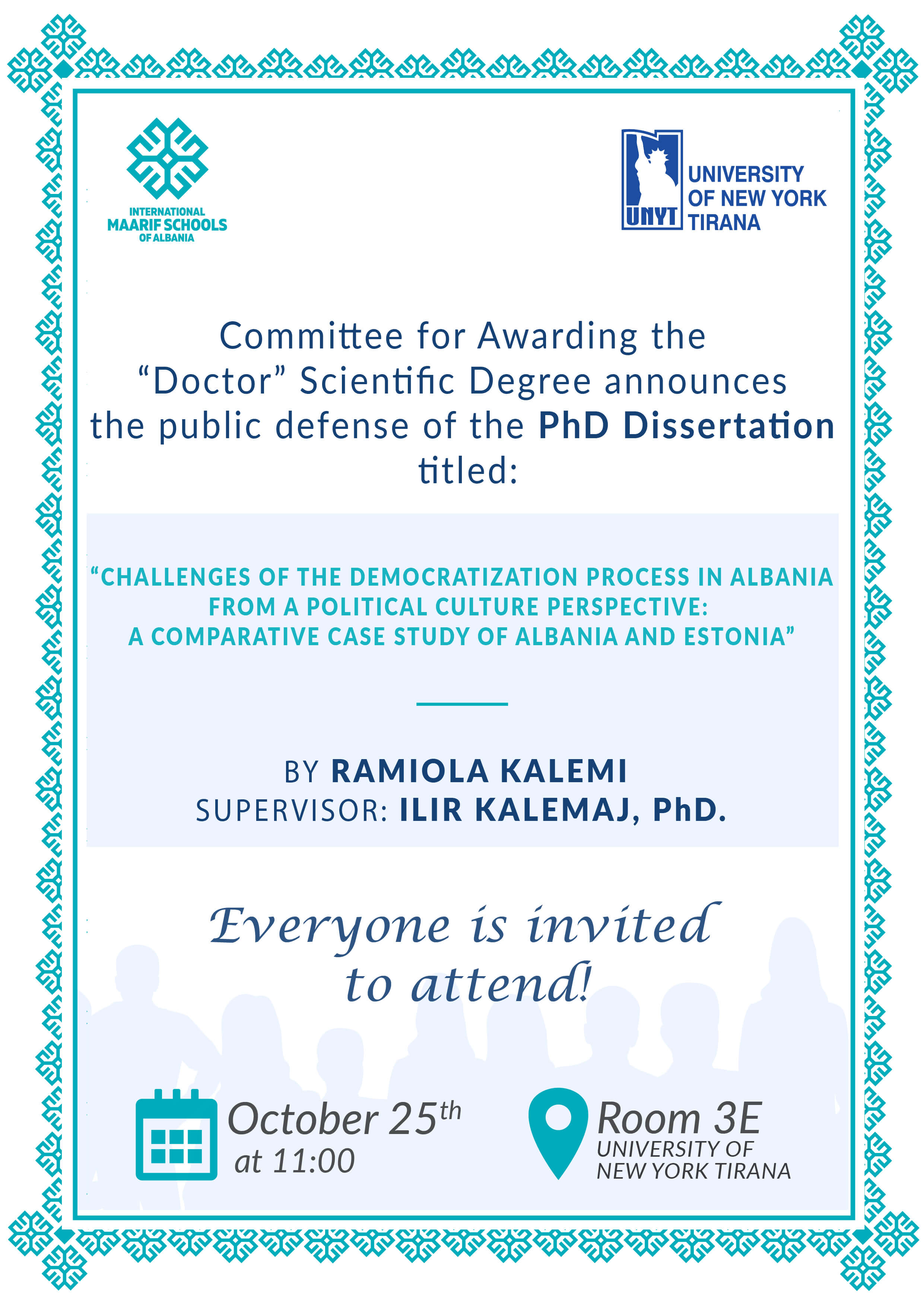 Dissertation Defence – Ramiola Kalemi