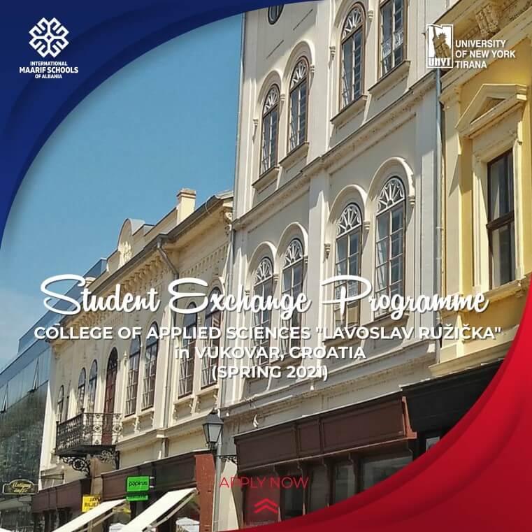 "Erasmus Exchange Program with the College of Applied Sciences ""LAVOSLAV RUŽIČKA"", Croatia"