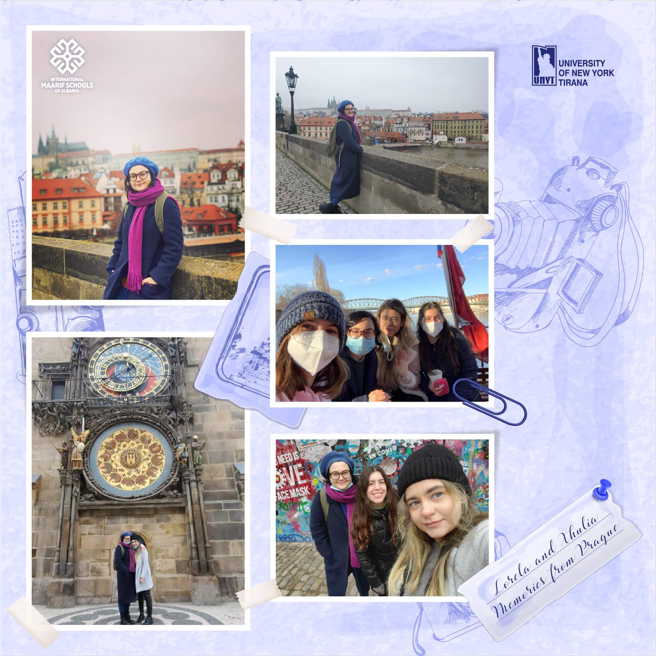 Lorela Qerimi and Xhulia Xhaferi – Exchange Students in Prague, Czech Republic