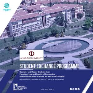 Student Exchange Program with Anadolu University, Turkey